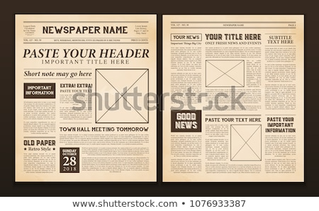 edad · periódico · vector · vintage · nuevos - foto stock © pzaxe