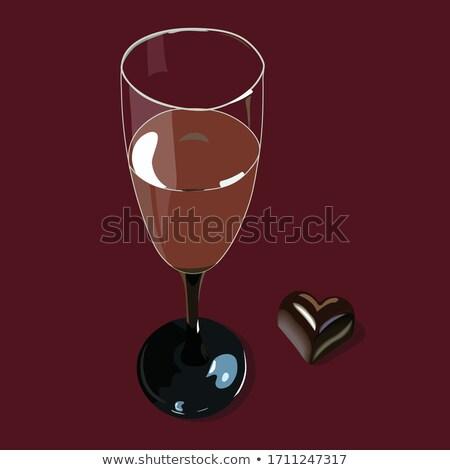 Chocolate covered wine glass Stock photo © Stootsy