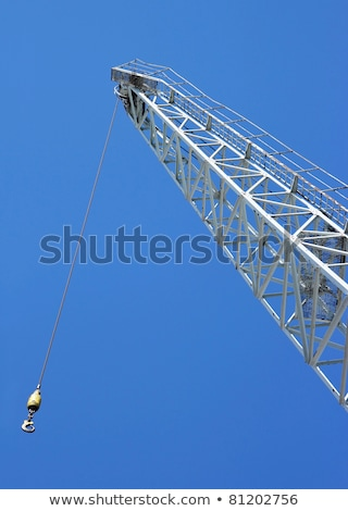 close up shot of a crane at a harbou stock photo © rufous