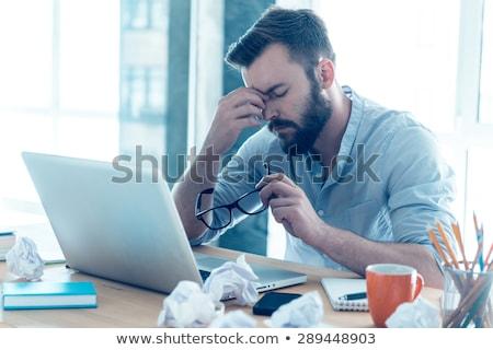 устал человека волос мужчин печально подростков Сток-фото © Paha_L