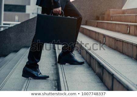 Affaires jambe serviette jambes noir chaussures Photo stock © tlorna