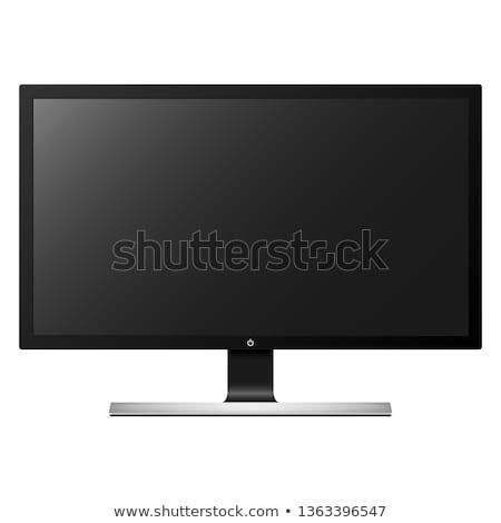 телевизор Компьютерный монитор легкий изолированный белый Сток-фото © ABBPhoto