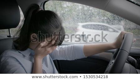печально · депрессия · женщину · плачу · сокрытие · лице - Сток-фото © nobilior