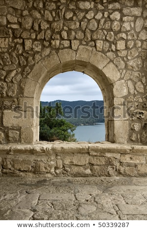 メーソンリー スペイン 古い 石 壁 石の壁 ストックフォト © lunamarina