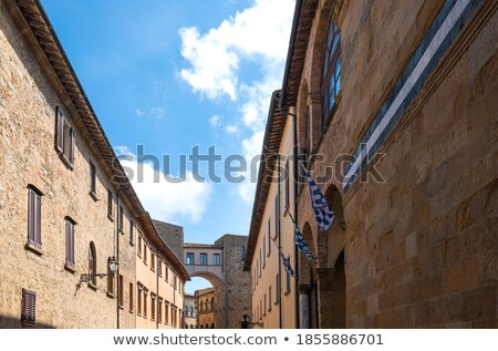 Ancient tower houses in Volterra Stock photo © aladin66