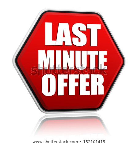 last minute offer in red hexagon banner Stock photo © marinini