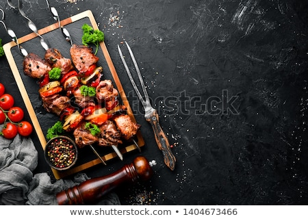 Shish Kebabs are on the BBQ Stock photo © ozgur