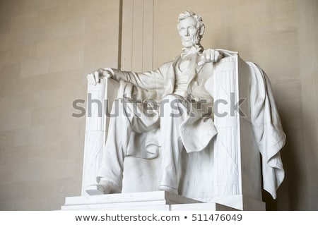 white lincoln statue close up memorial washington dc stock photo © billperry