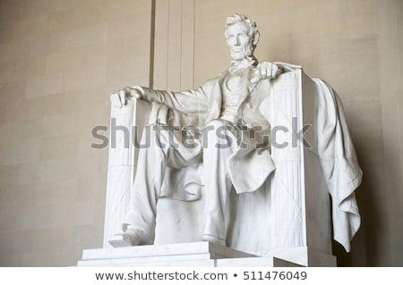 Stock photo: White Lincoln Statue Close Up Memorial Washington Dc