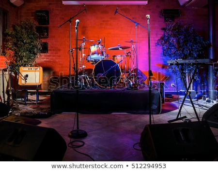 Microphone And Loud Speakers Shows Live Music Performing Or Ente Stock photo © stuartmiles