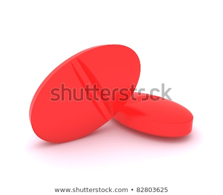 Rojo pastillas radioactivo medicina médicos Foto stock © cherezoff