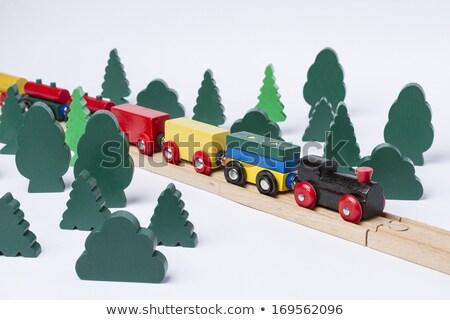 Gyors vonat vezetés kicsi erdő díszlet Stock fotó © gewoldi