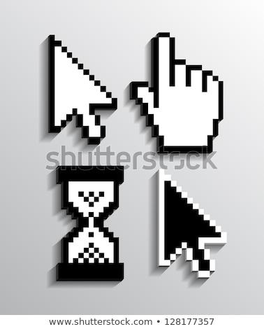 ボタン 3D カーソル 矢印 白 影 ストックフォト © mizar_21984