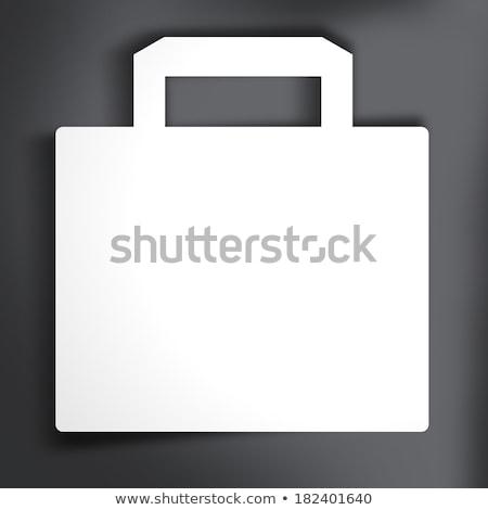 Mentés bevásárlószatyor ikon százalék árengedmény ár Stock fotó © fenton