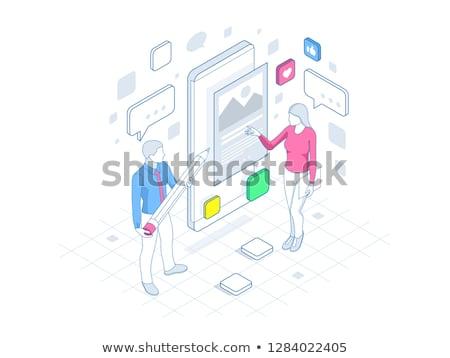 app · mensen · permanente · verscheidene · apps - stockfoto © hasloo