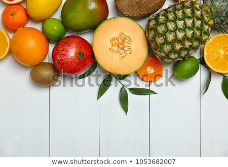 many different exotic fruits stock photo © redpixel
