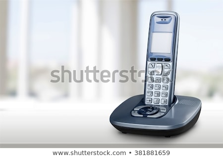 コードレス 電話 孤立した ベンチ 話し 現代 ストックフォト © kitch