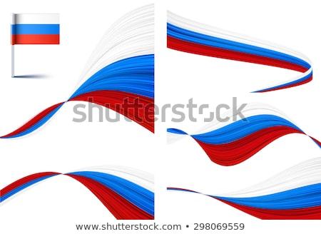 cuadrados · icono · bandera · Rusia · iso · código - foto stock © dvarg