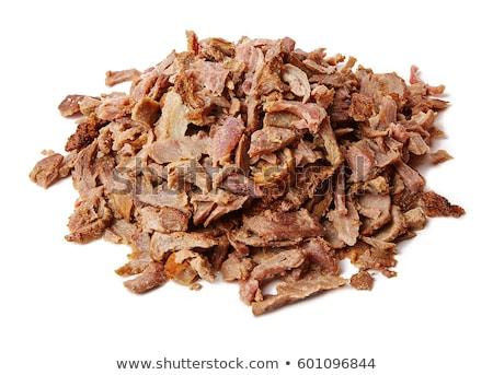 churrasco · carne · quibe · churrasco · servido · alface - foto stock © m-studio