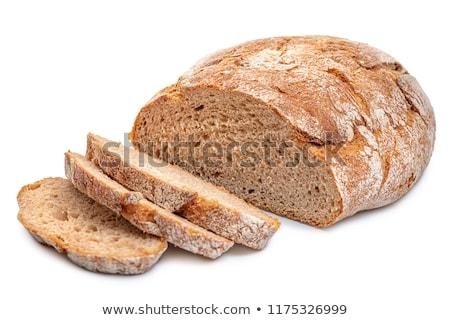 ライ麦 パン 孤立した 白 小麦 新鮮な ストックフォト © natika