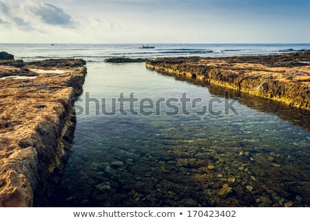 Entry to Ancient Phoenician Port of Mahdia Stock photo © Kayco