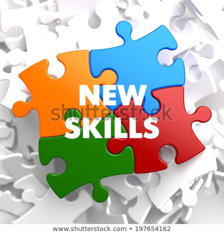 New Skills on Multicolor Puzzle. Stock photo © tashatuvango