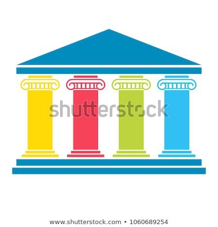 Pilastro 3D generato foto bianco presentazione Foto d'archivio © flipfine