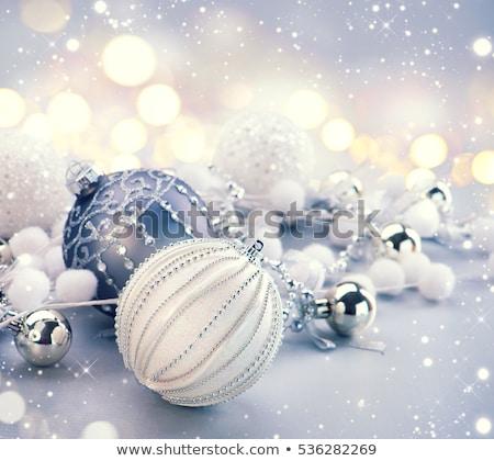 Argento Natale gingillo albero neve glitter Foto d'archivio © juniart