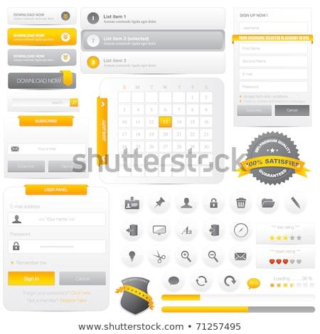 Set web buttons delete Stock photo © lemonti
