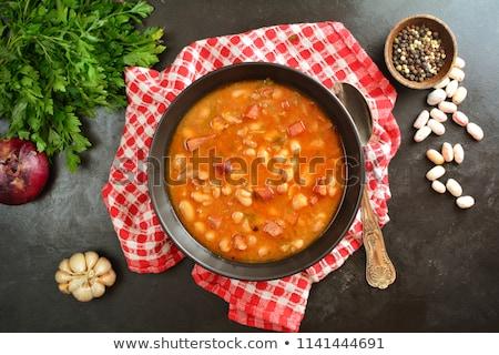 minestra · di · fagioli · alimentare · pollo · cena · caldo · pepe - foto d'archivio © yelenayemchuk