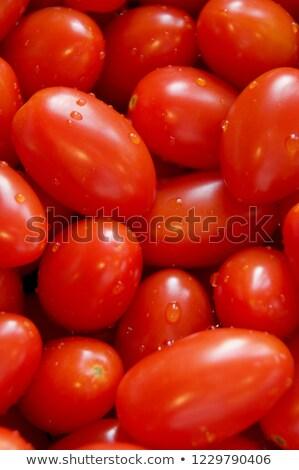 fresh ripe red plums stock photo © juniart