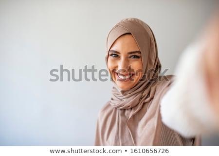 красивая · девушка · позируют · балкона · очаровательный · девушки - Сток-фото © dash