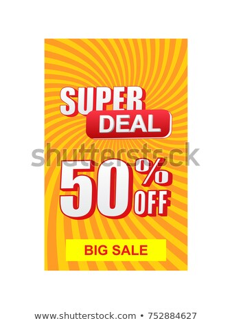 50 percentages big sale, yellow and red drawn labels Stock photo © marinini