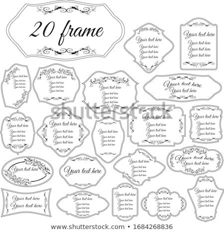 Collection of ornate vintage vector frames with sample text. Per Stock photo © leonido