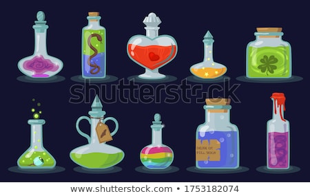 Stock photo: halloween witch in laboratory concept background