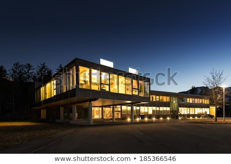 Windows glowing in the night on an office building Stock photo © gemenacom