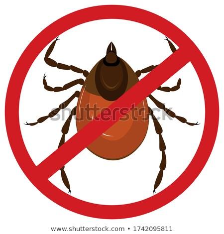 avertissement · parasite · signe · de · danger · effrayant · maladie - photo stock © flipfine