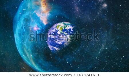 Bella spazio panorama terra sole luna Foto d'archivio © grechka333