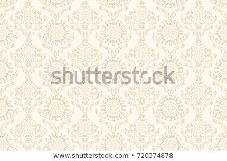 Fara sudura damasc textil tapet model retro Imagine de stoc © Mr_Vector