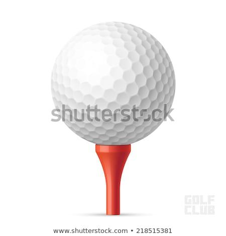 мяч · для · гольфа · красный · макроса · выстрел · гольф · трава - Сток-фото © capturelight