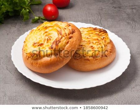 chignon · fromage · cottage · farce · milieu · ouvrir · déjeuner - photo stock © fanfo