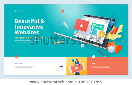Web blogging vecteur texte design bleu Photo stock © Pinnacleanimates
