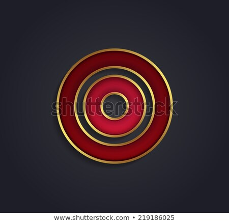 beautiful vector graphic ruby alphabet with gold rim letter f stock photo © feabornset