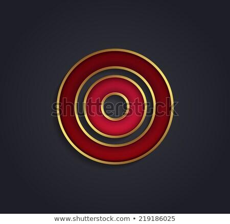 Foto stock: Belo · vetor · gráfico · rubi · alfabeto · ouro