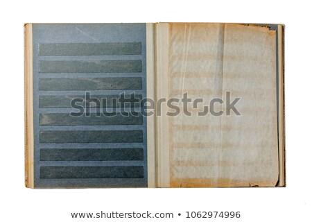 Açmak damga albüm yalıtılmış beyaz Stok fotoğraf © vtls