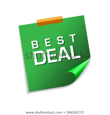 Best Deal Green Sticky Notes Vector Icon Design Stock photo © rizwanali3d