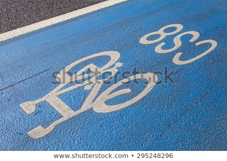 cyclist on a cycle superhighway in london stock photo © chrisdorney