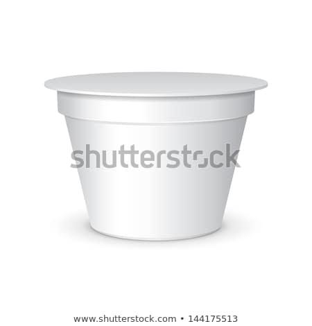 白 短い たらい 食品 デザート ストックフォト © netkov1
