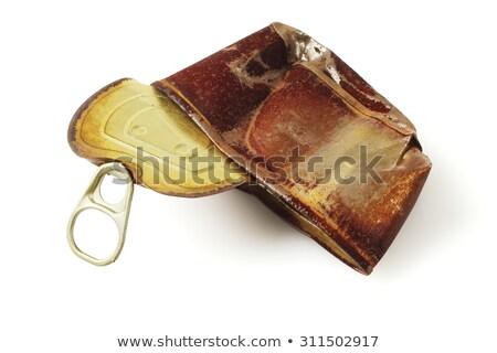 ржавые можете белый металл Recycle объект Сток-фото © dezign56