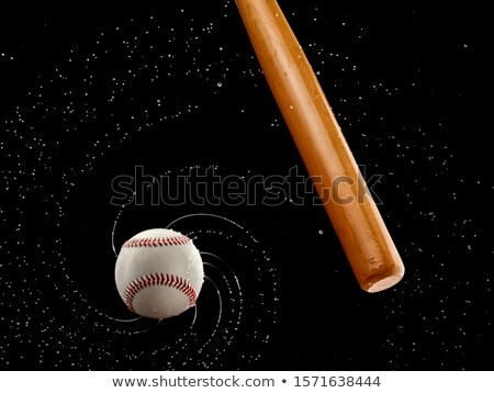 Beisebol bola bat isolado branco madeira Foto stock © tetkoren